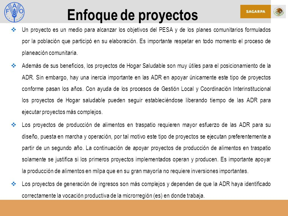 Enfoque de proyectos