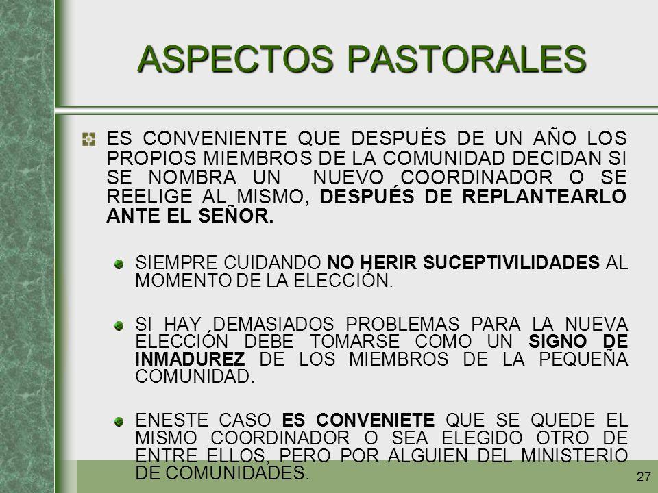 ASPECTOS PASTORALES