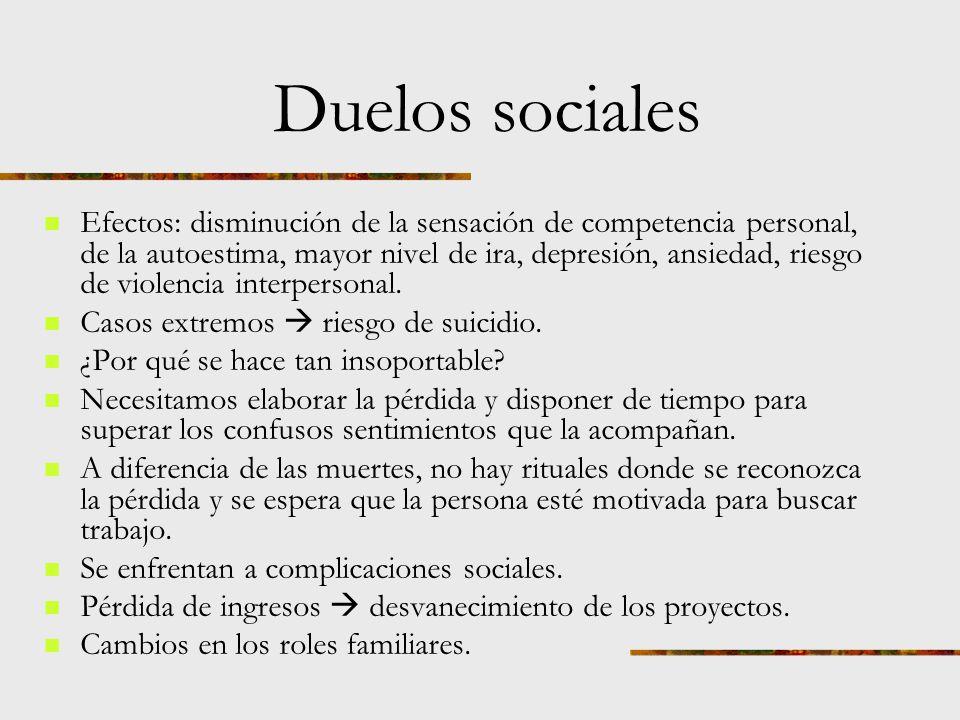 Duelos sociales