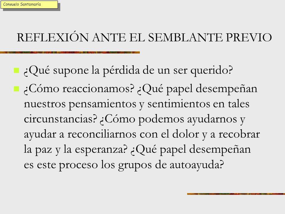 REFLEXIÓN ANTE EL SEMBLANTE PREVIO