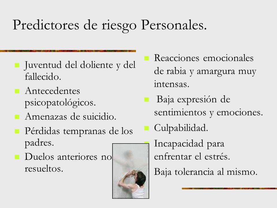 Predictores de riesgo Personales.