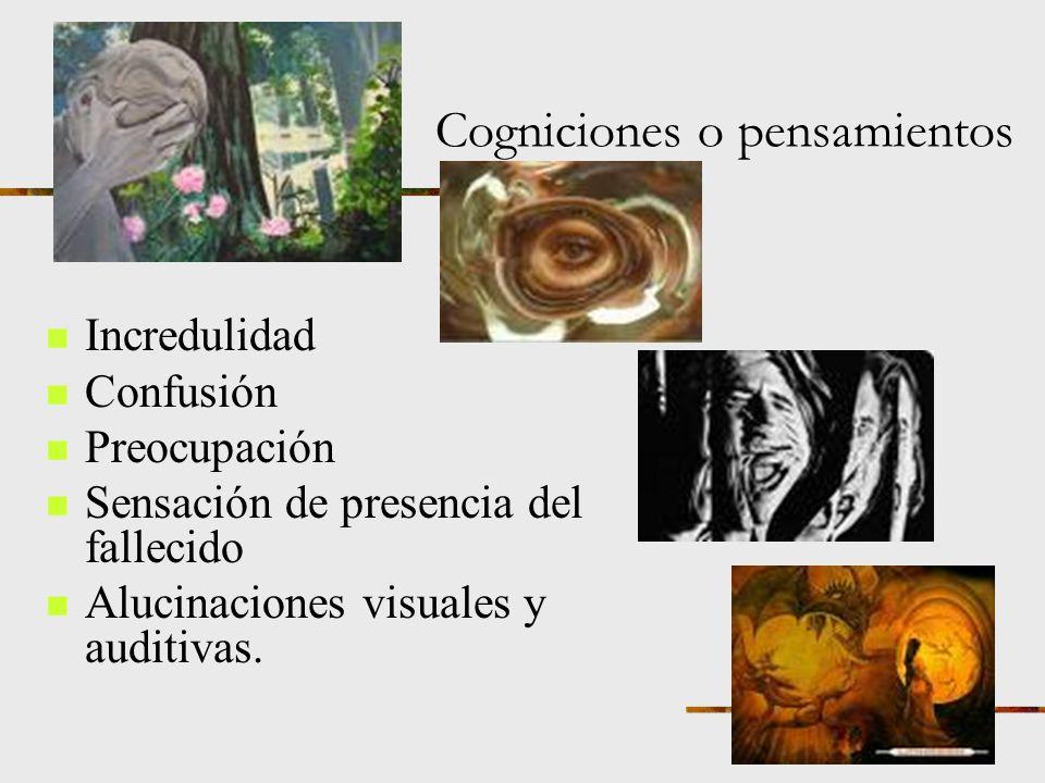 Cogniciones o pensamientos