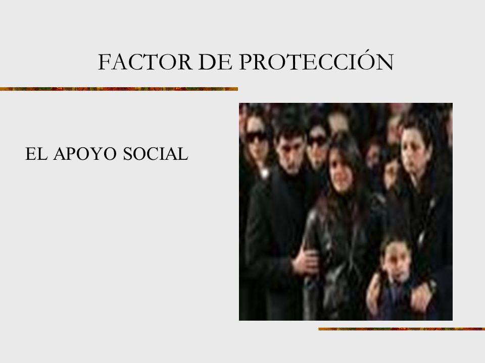 FACTOR DE PROTECCIÓN EL APOYO SOCIAL