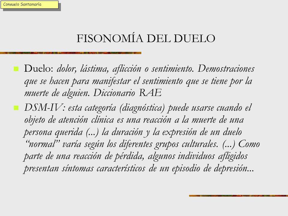 Consuelo Santamaría FISONOMÍA DEL DUELO.