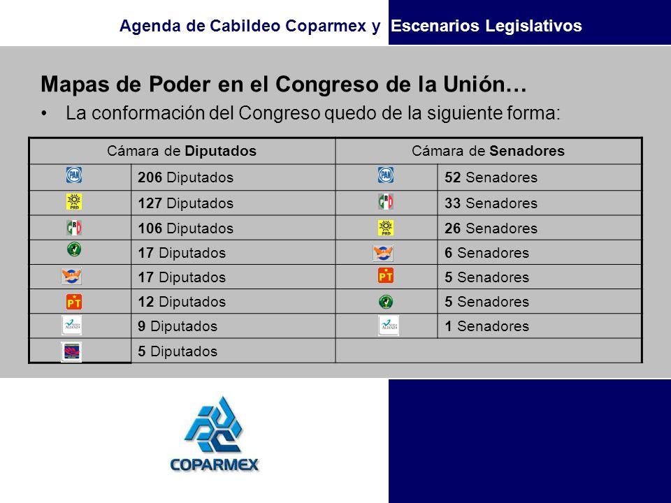 Mapas de Poder en el Congreso de la Unión…