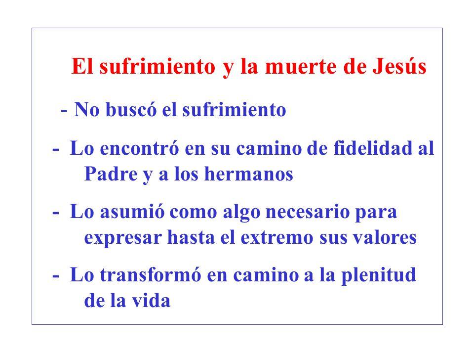El sufrimiento y la muerte de Jesús