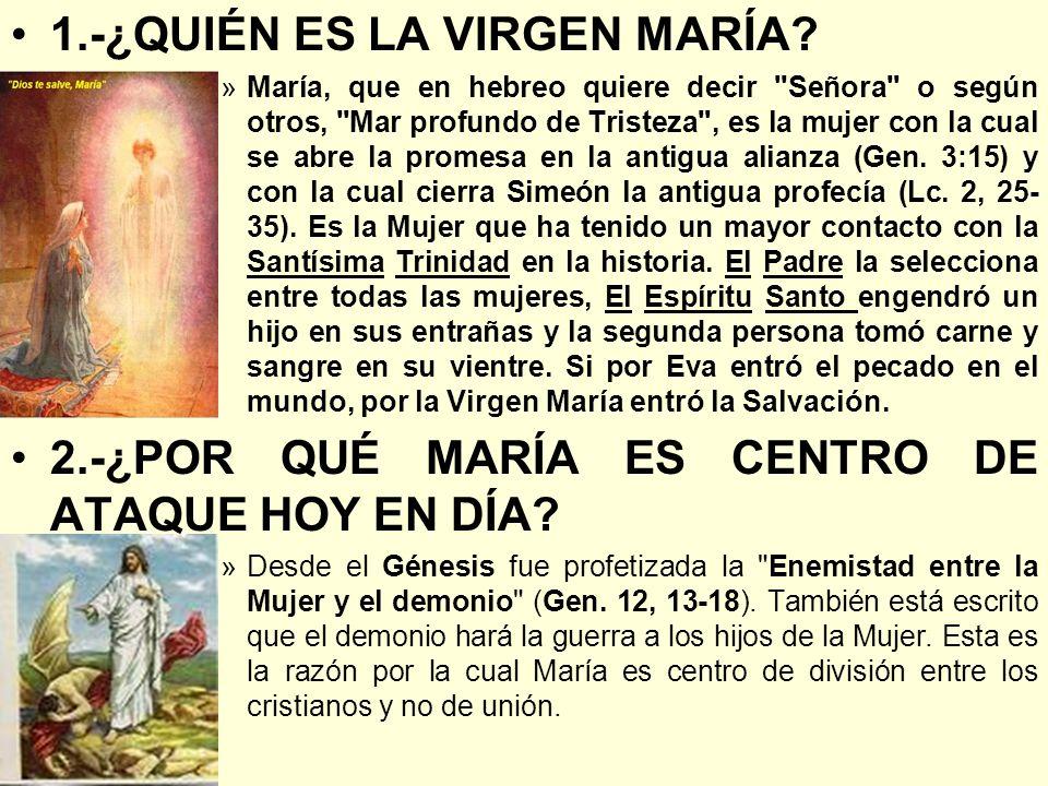1.-¿QUIÉN ES LA VIRGEN MARÍA