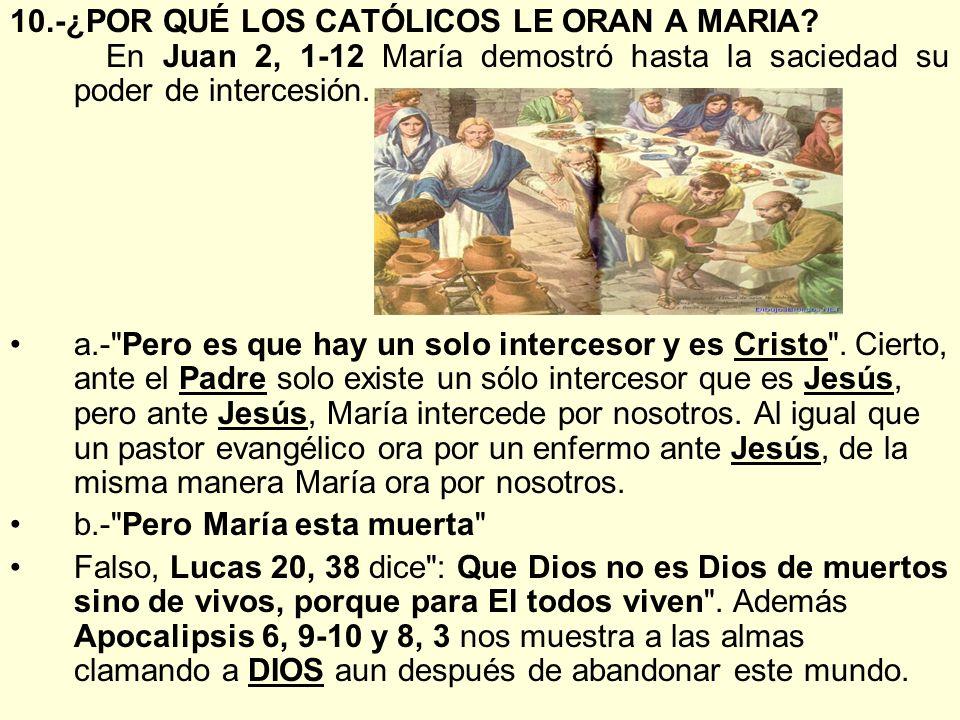 10. -¿POR QUÉ LOS CATÓLICOS LE ORAN A MARIA