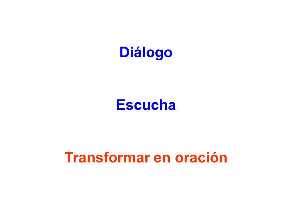 Transformar en oración
