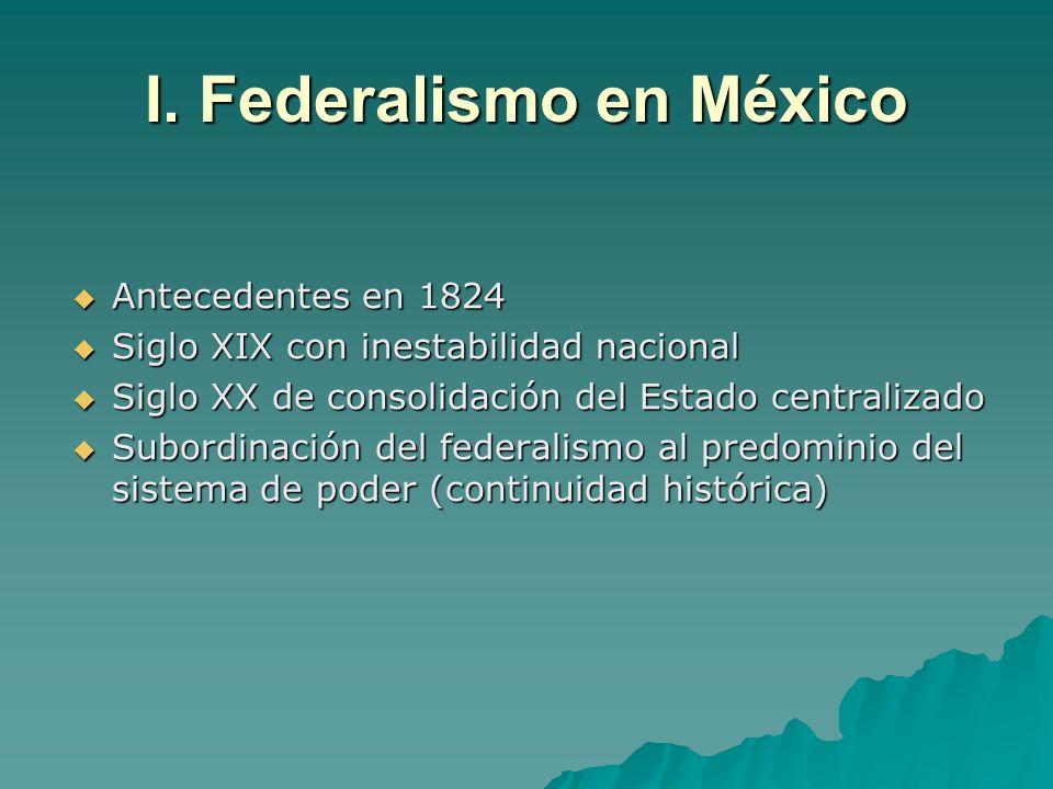 I. Federalismo en México