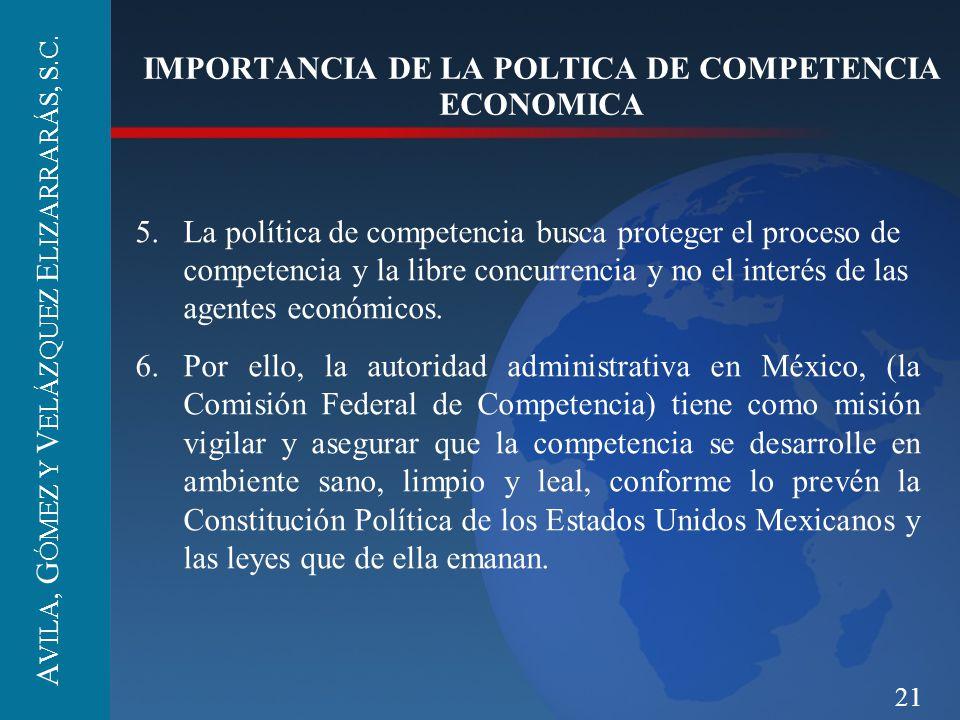 IMPORTANCIA DE LA POLTICA DE COMPETENCIA ECONOMICA