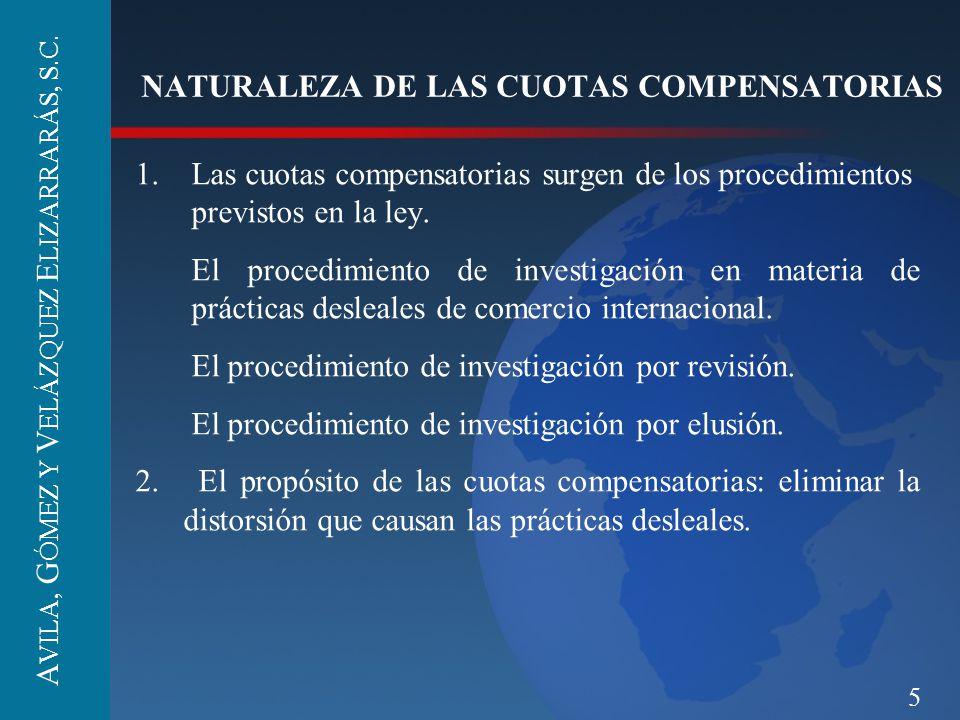 NATURALEZA DE LAS CUOTAS COMPENSATORIAS