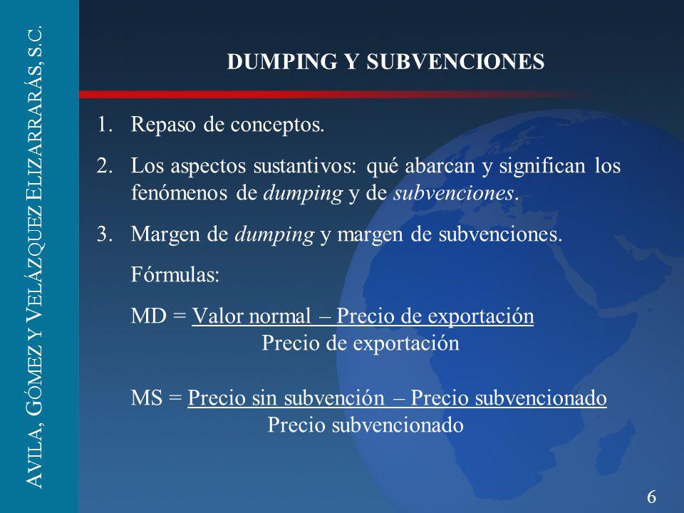 DUMPING Y SUBVENCIONES