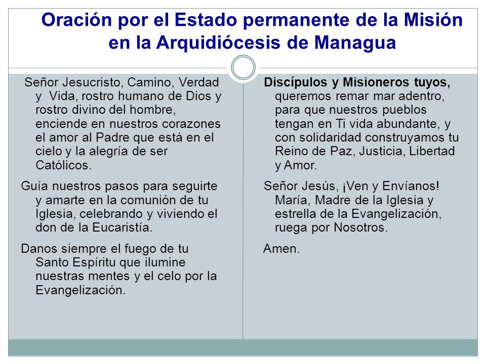Oración por el Estado permanente de la Misión en la Arquidiócesis de Managua