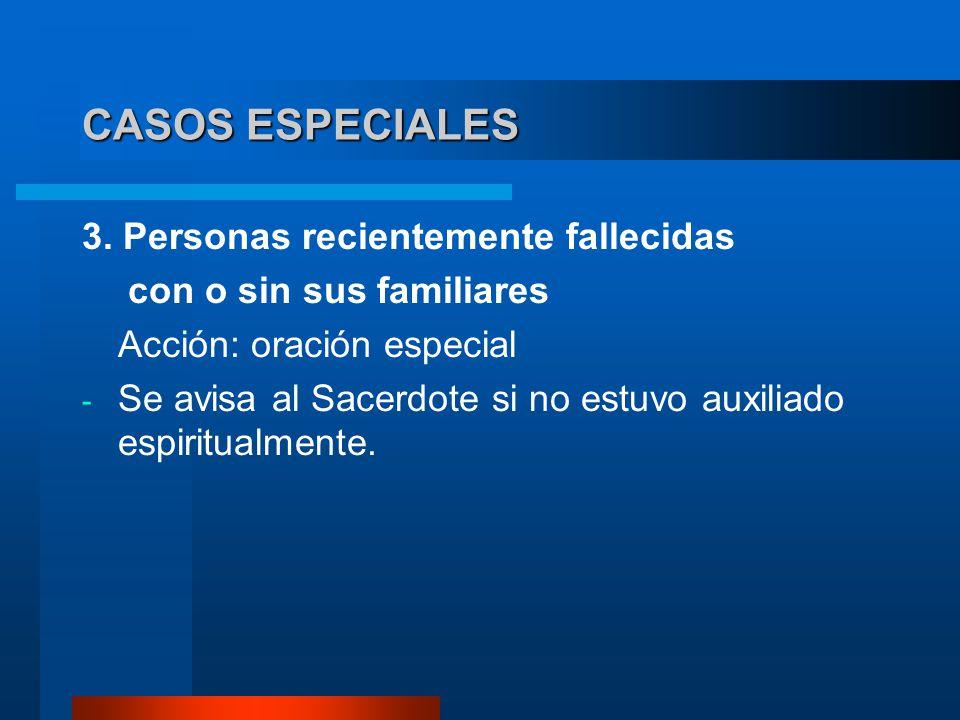 CASOS ESPECIALES 3. Personas recientemente fallecidas