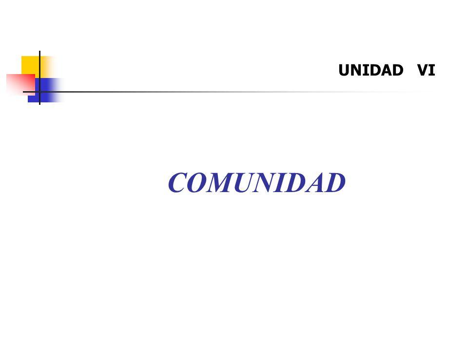 UNIDAD VI COMUNIDAD