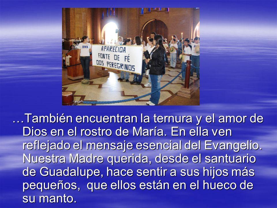 …También encuentran la ternura y el amor de Dios en el rostro de María