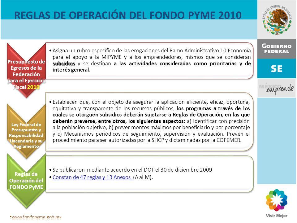 REGLAS DE OPERACIÓN DEL FONDO PYME 2010