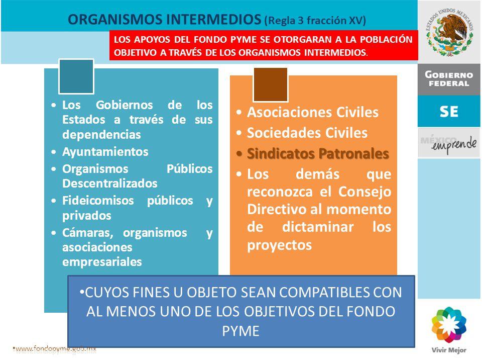 ORGANISMOS INTERMEDIOS (Regla 3 fracción XV)