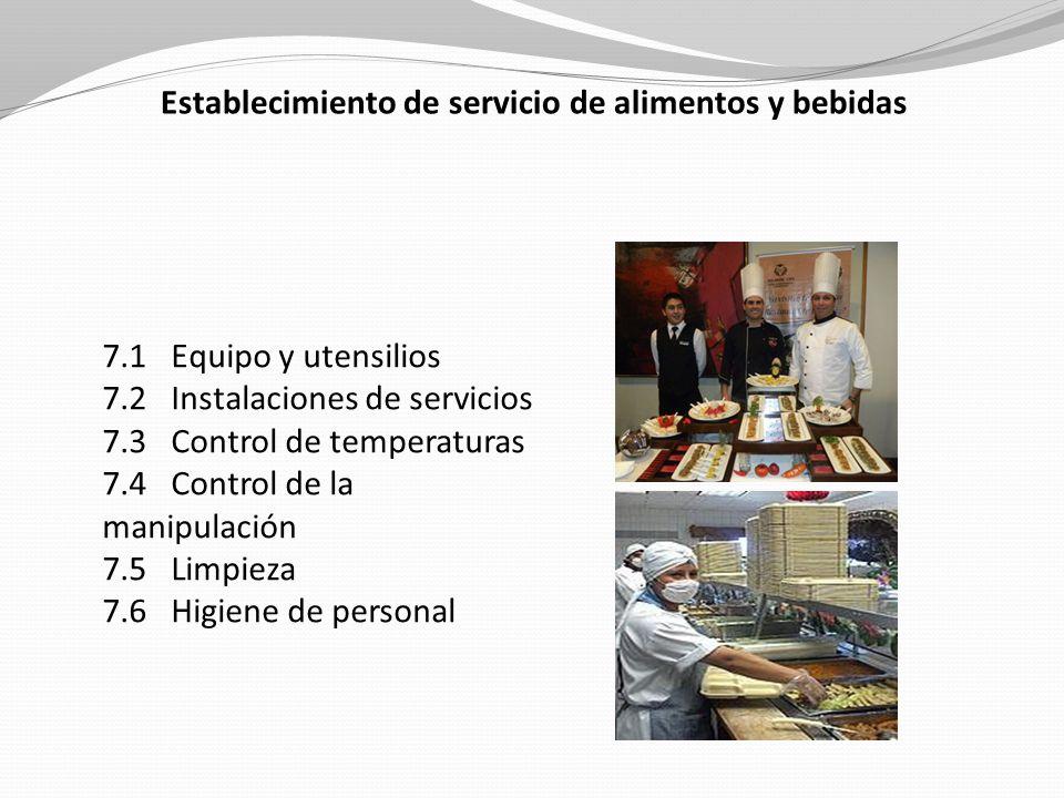 Establecimiento de servicio de alimentos y bebidas