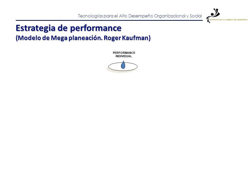Estrategia de performance (Modelo de Mega planeación. Roger Kaufman)