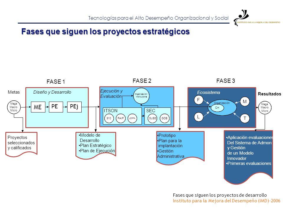 Fases que siguen los proyectos estratégicos