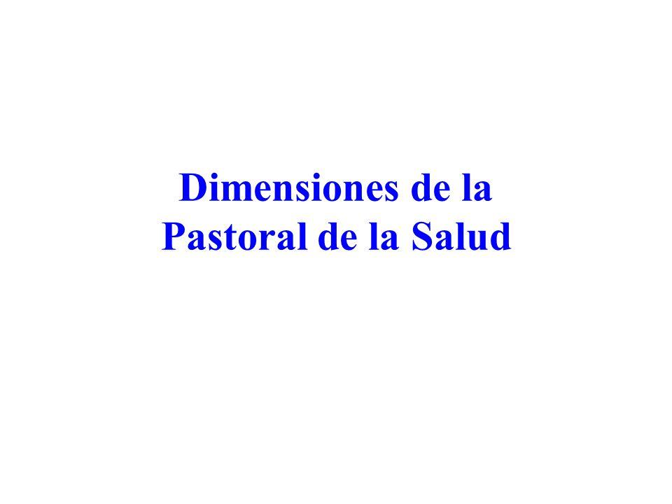 Dimensiones de la Pastoral de la Salud
