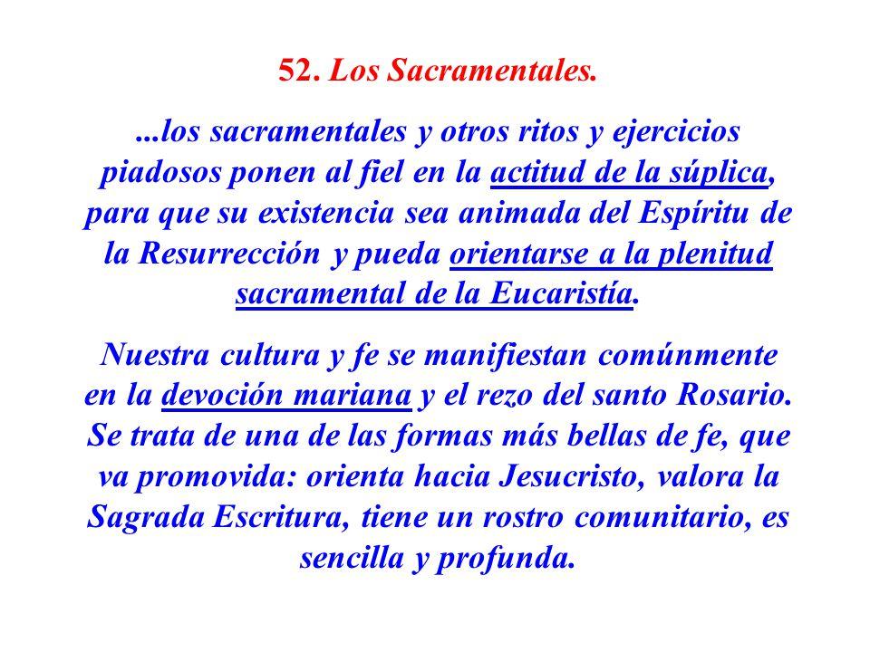 52. Los Sacramentales.