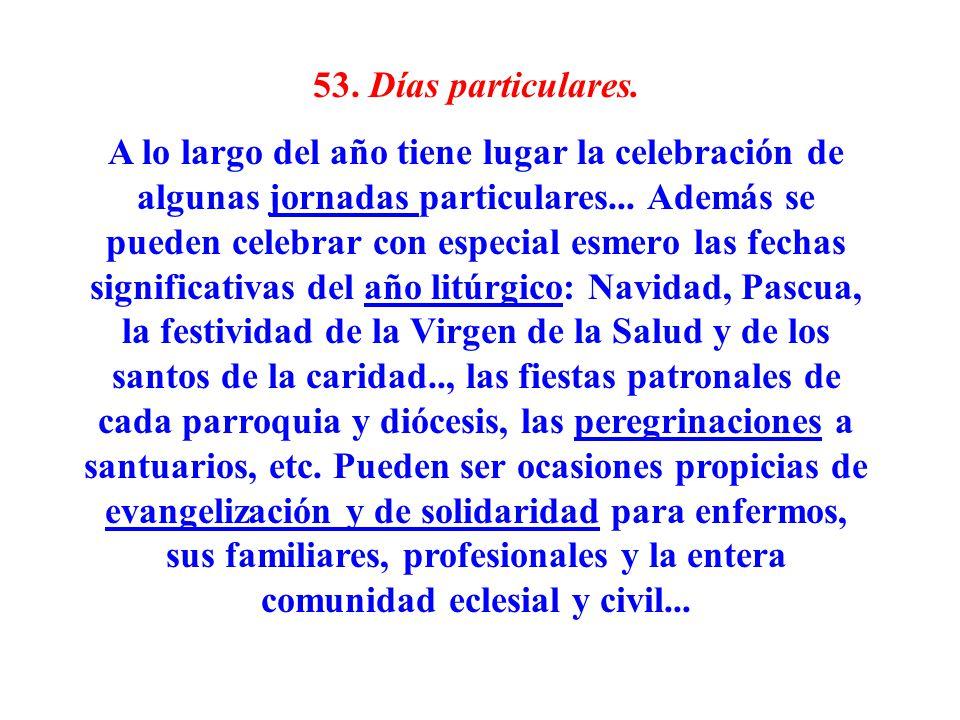 53. Días particulares.