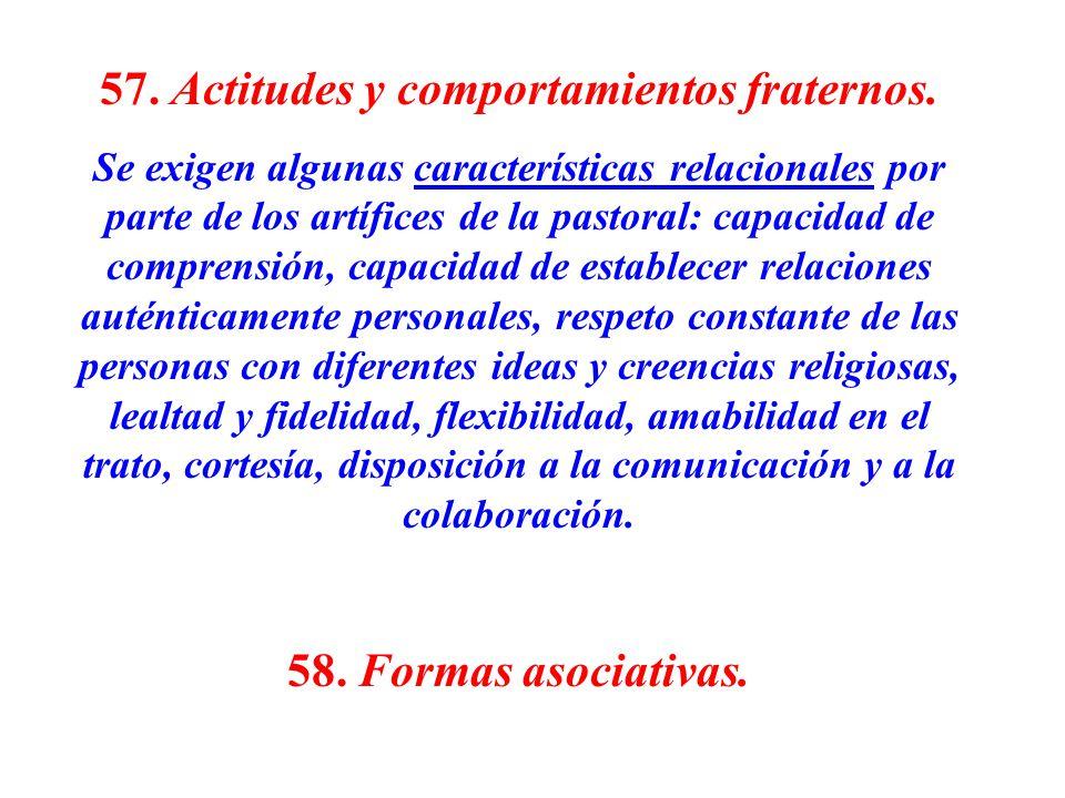 57. Actitudes y comportamientos fraternos.