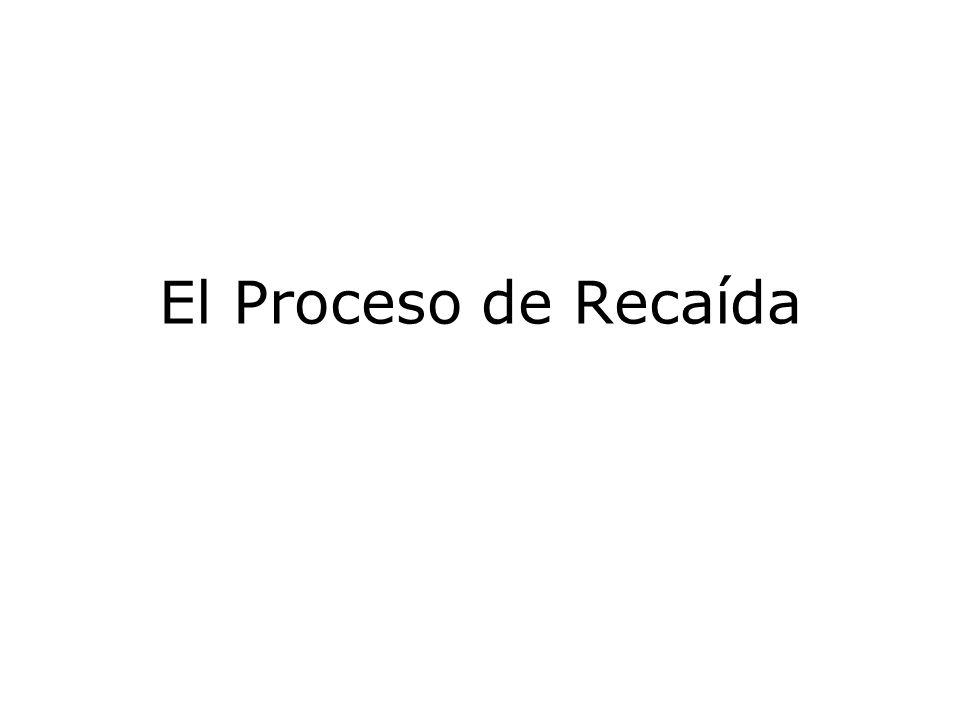 El Proceso de Recaída