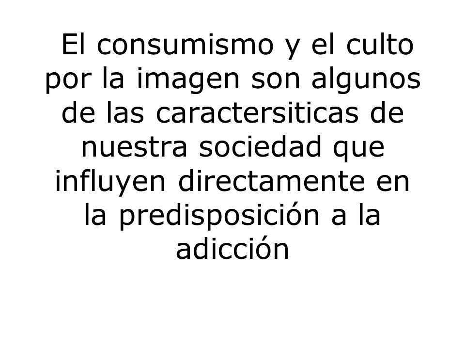 El consumismo y el culto por la imagen son algunos de las caractersiticas de nuestra sociedad que influyen directamente en la predisposición a la adicción