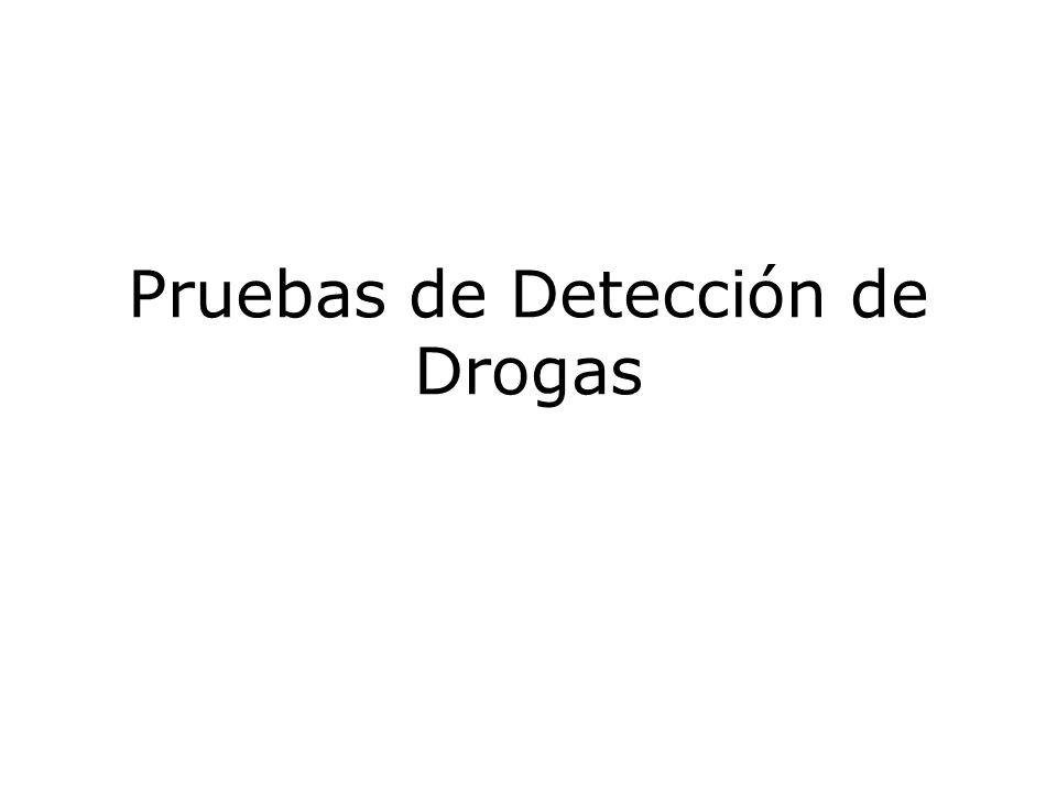 Pruebas de Detección de Drogas