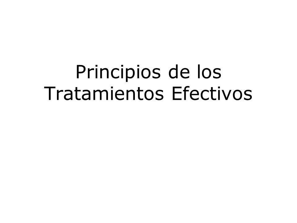 Principios de los Tratamientos Efectivos
