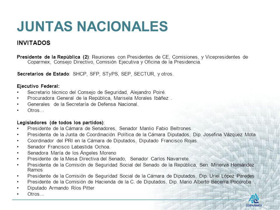 JUNTAS NACIONALES INVITADOS