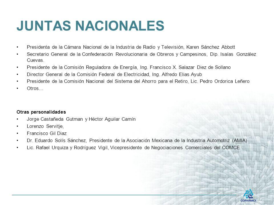 JUNTAS NACIONALES Presidenta de la Cámara Nacional de la Industria de Radio y Televisión, Karen Sánchez Abbott.