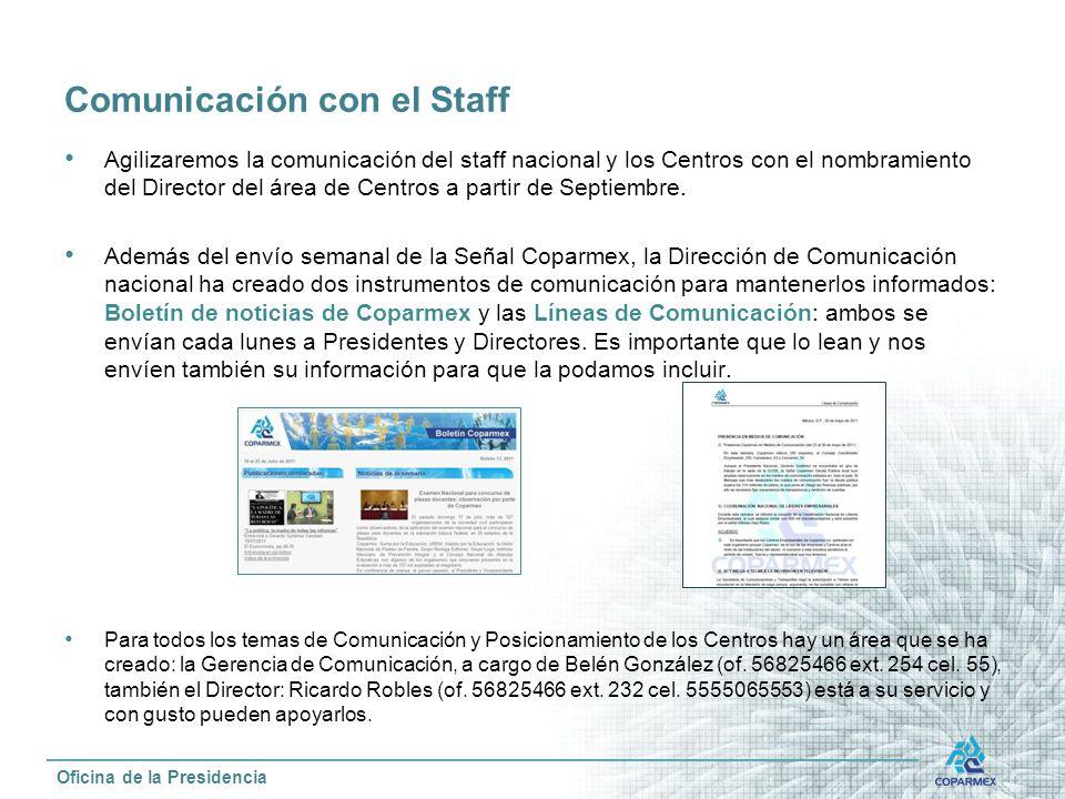 Comunicación con el Staff
