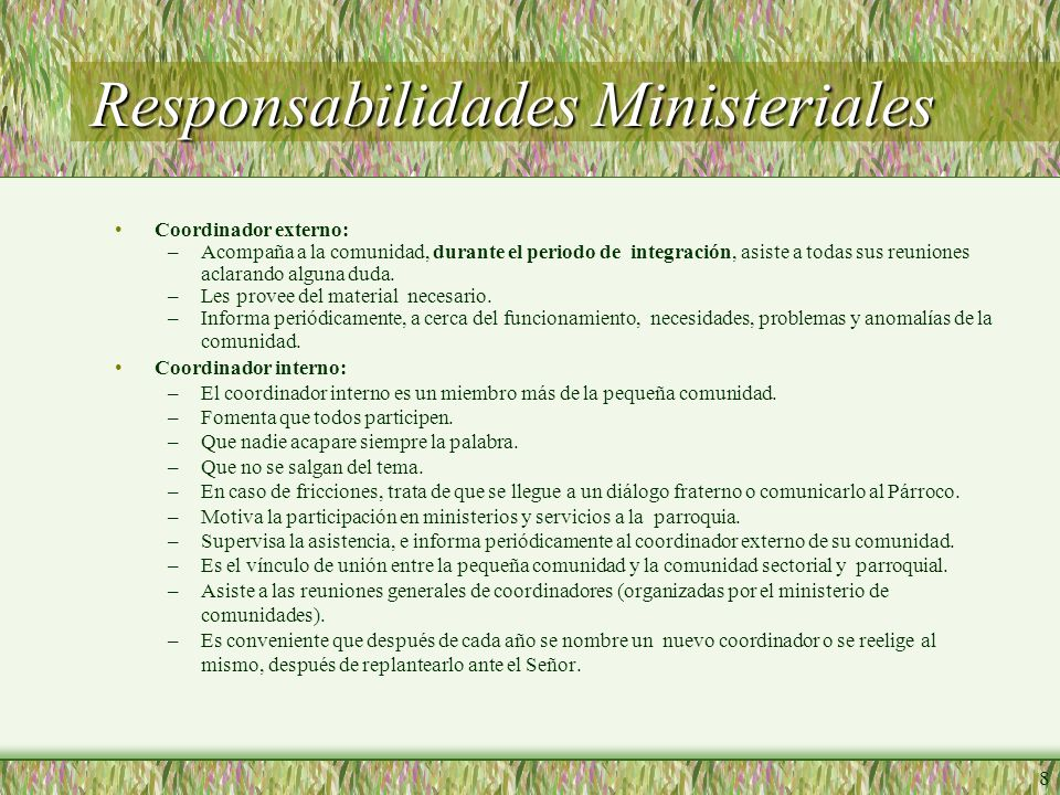 Responsabilidades Ministeriales