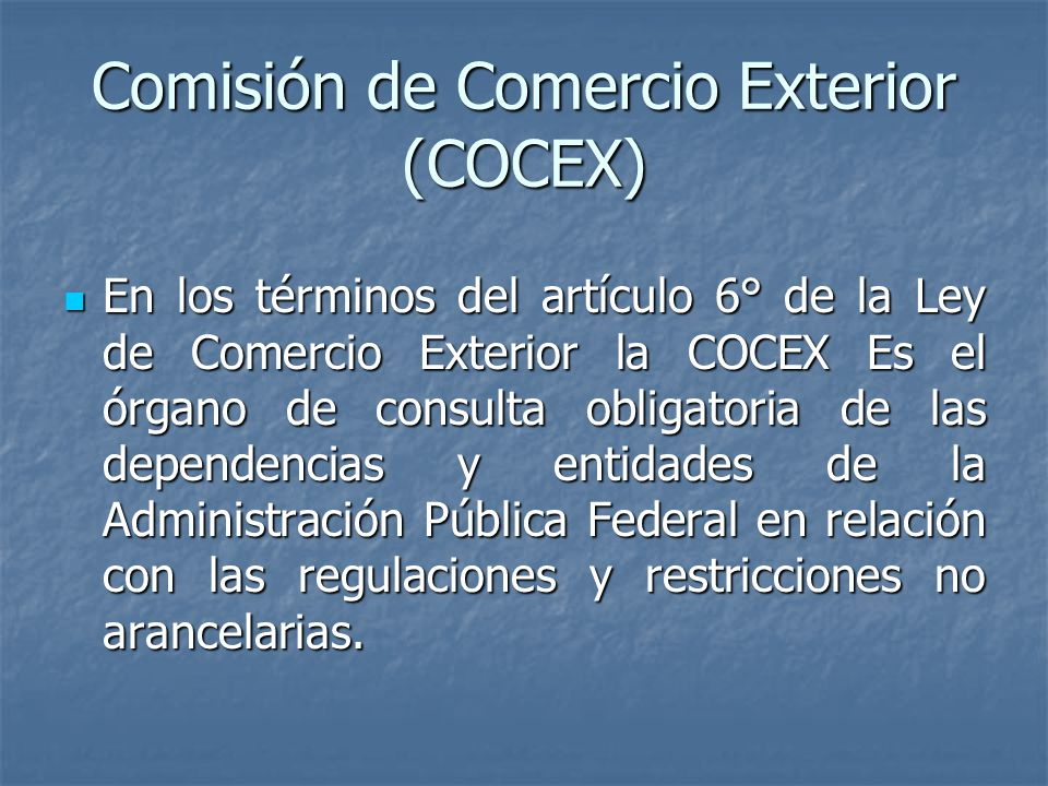 Comisión de Comercio Exterior (COCEX)