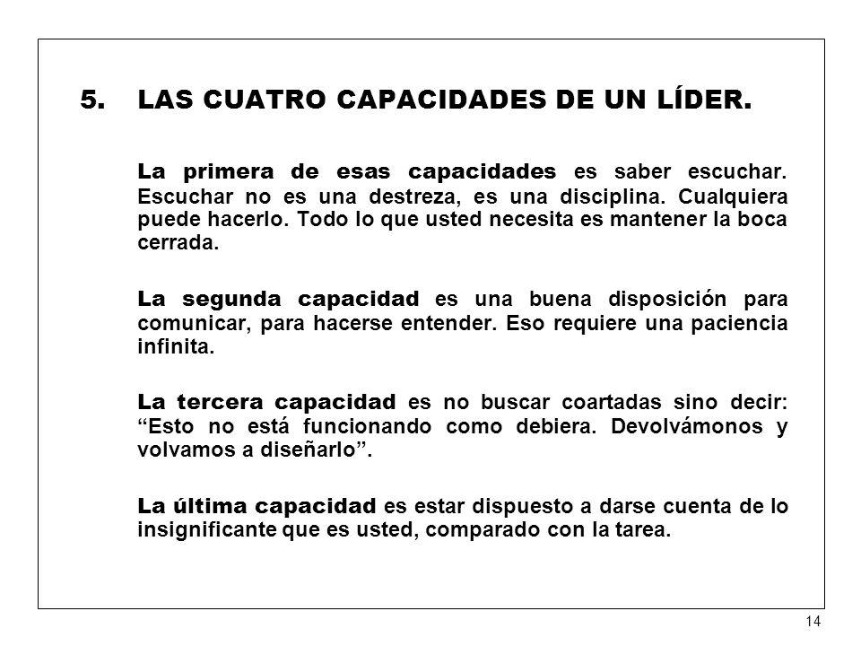LAS CUATRO CAPACIDADES DE UN LÍDER.