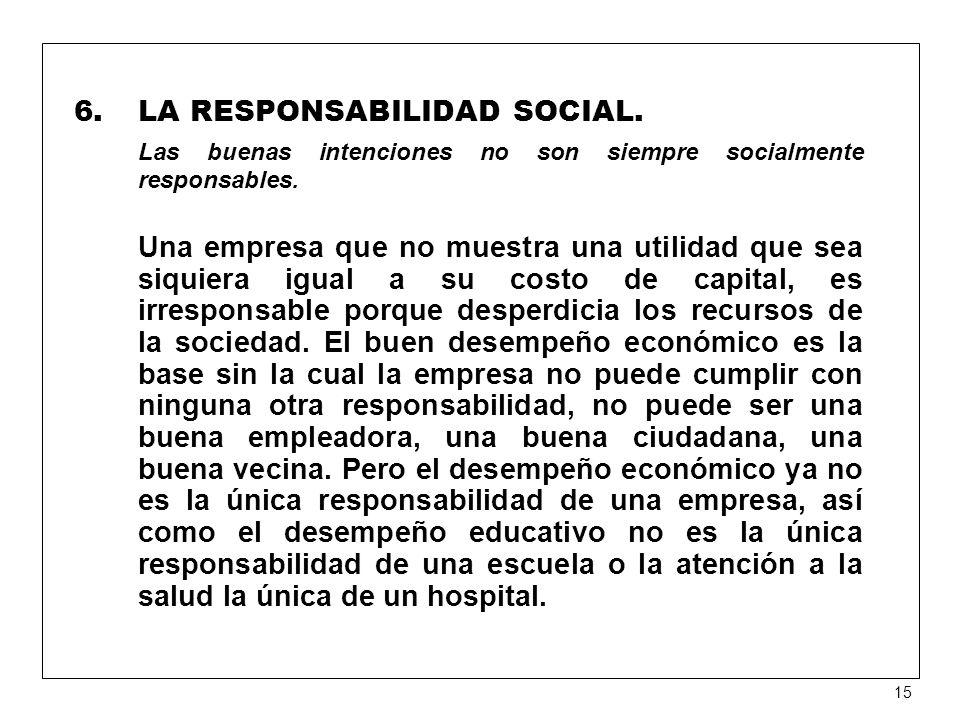 LA RESPONSABILIDAD SOCIAL.