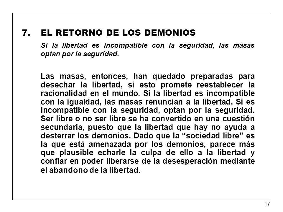 EL RETORNO DE LOS DEMONIOS
