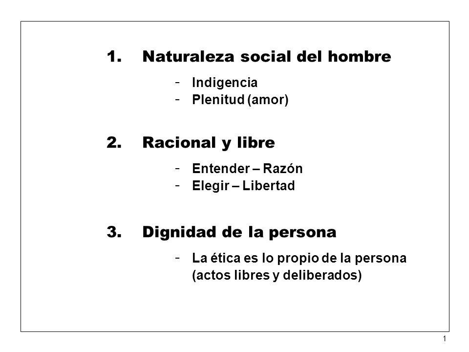 Naturaleza social del hombre