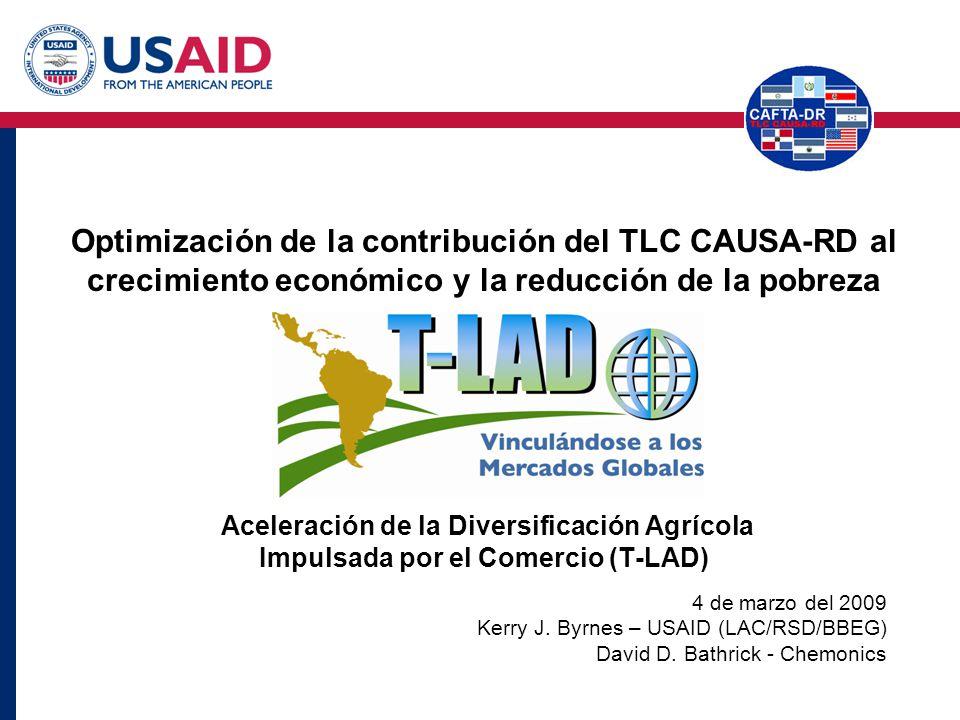 Optimización de la contribución del TLC CAUSA-RD al crecimiento económico y la reducción de la pobreza