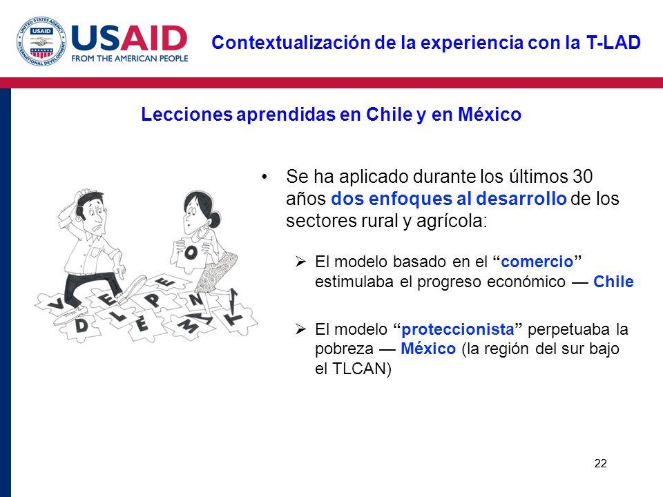 Lecciones aprendidas en Chile y en México