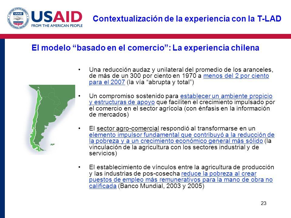 El modelo basado en el comercio : La experiencia chilena