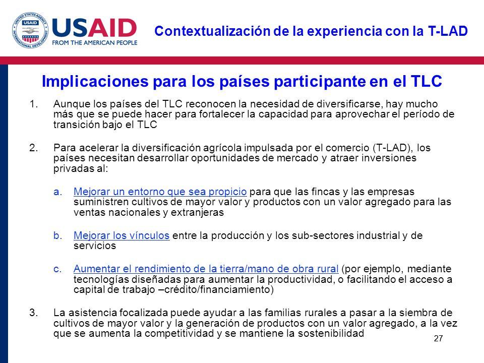 Implicaciones para los países participante en el TLC