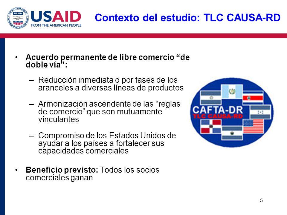 Contexto del estudio: TLC CAUSA-RD