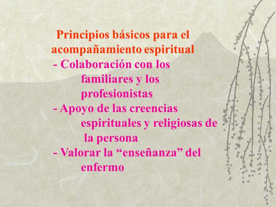 Principios básicos para el acompañamiento espiritual