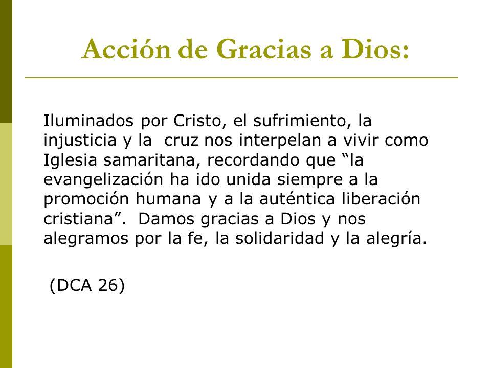 Acción de Gracias a Dios: